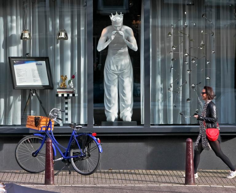witzige Lösung einer visuelle Kommunikation Restaurant im Andraz